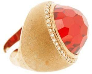 ΔΑΧΤΥΛΙΔΙ BEVERLY ΑΣΗΜΕΝΙΟ ΜΕ ΚΟΚΚΙΝΗ ΜΕ ΠΕΤΡΑ (ONE SIZE) accessories κοσμηματα δαχτυλιδια επιχρυσωμενα