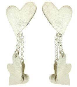 ΣΚΟΥΛΑΡΙΚΙΑ ΧΕΙΡΟΠΟΙΗΤΑ ΚΑΡΔΙΕΣ (ΑΣΗΜΕΝΙΑ) accessories κοσμηματα σκουλαρικια κρεμαστα