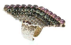 ΔΑΧΤΥΛΙΔΙ FRANGOS ΡΟΜΒΟΣ ΜΕ ΠΟΛΥΧΡΩΜΑ SWAROVSKI (ONE SIZE) accessories κοσμηματα δαχτυλιδια fashion