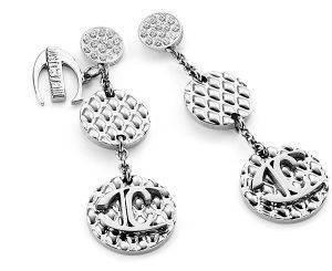 ΣΚΟΥΛΑΡΙΚΙΑ JUST CAVALLI WAFER (ΑΤΣΑΛΙ) accessories κοσμηματα σκουλαρικια κρεμαστα
