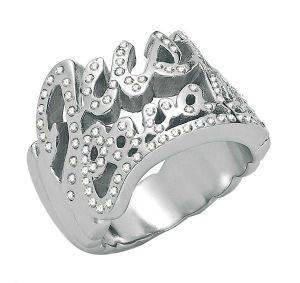 ΔΑΧΤΥΛΙΔΙ JUST CAVALLI JUST LOGO ΑΝΟΞΕΙΔΩΤΟ ΑΤΣΑΛΙ (NO 54) accessories κοσμηματα δαχτυλιδια fashion
