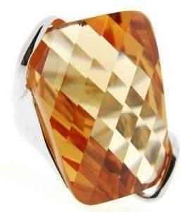 ΔΑΧΤΥΛΙΔΙ ΒΕVERLY ΜΕ ΖΙΡΓΚΟΝ ΜΠΕΖ (NO 54) accessories κοσμηματα δαχτυλιδια επιπλατινωμενα