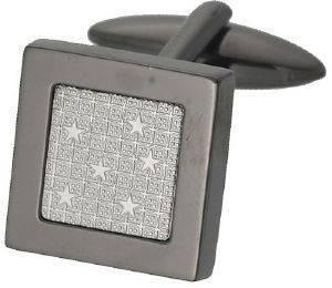 ΜΑΝΙΚΕΤΟΚΟΥΜΠΑ ASCOT ΑΣΗΜΙ ΜΕ ΑΣΤΕΡΑΚΙΑ accessories κοσμηματα μανικετοκουμπα τετραγωνα