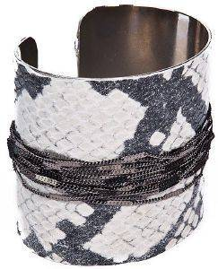 ΒΡΑΧΙΟΛΙ ACHILLEAS ACCESSORIES SNAKE SKIN ΑΣΗΜΙ
