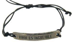 """ΒΡΑΧΙΟΛΙ COUNTESS WILHELMINA """"VIVIR ES INCREIBLE"""" ΜΑΥΡΟ accessories κοσμηματα βραχιολια fashion"""