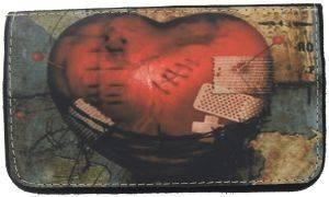ΔΕΡΜΑΤΙΝΗ ΚΑΣΤΟΡΙΝΗ ΘΗΚΗ ΚΑΠΝΟΥ ON AND OFF BROKEN HEART accessories ειδη καπνιστου αξεσουαρ καπνοσακουλεσ