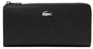 ΠΟΡΤΟΦΟΛΙ LACOSTE DAILY CLASSIC NF2780DC ΜΑΥΡΟ accessories γυναικα πορτοφολια συνθετικα