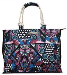 ΤΣΑΝΤΑ ΩΜΟΥ SUPERDRY AMAYA ROPE TOTE G91101ET CRAZY TROPICAL ΠΟΛΥΧΡΩΜΗ
