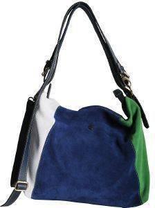 ΤΣΑΝΤΑ ΩΜΟΥ THIROS 11-0045 ΜΠΛΕ/ΛΕΥΚΟ/ΠΡΑΣΙΝΟ accessories γυναικα τσαντεσ τσαντεσ ωμου