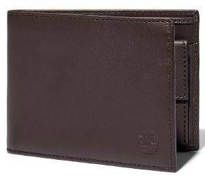 ΠΟΡΤΟΦΟΛΙ TIMBERLAND BIFOLD WITH POCKET COIN TB0A23UP ΣΚΟΥΡΟ ΚΑΦΕ