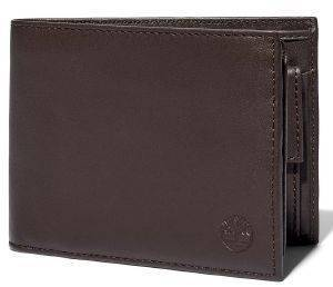 ΠΟΡΤΟΦΟΛΙ TIMBERLAND TRIFOLD WITH POCKET COIN TB0A23U3 ΣΚΟΥΡΟ ΚΑΦΕ