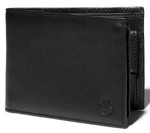 ΠΟΡΤΟΦΟΛΙ TIMBERLAND TRIFOLD WITH POCKET COIN TB0A23U3 ΜΑΥΡΟ