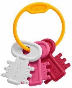 ΧΡΩΜΑΤΙΣΤΑ ΚΛΕΙΔΙΑ ΡΟΖ CHICCO Χρωματιστά κλειδιά ροζ  από την εταιρία CHICCO Κουδουνίστρα με ζωηρά χρώματα εύκολη στο κράτημα και ειδικά σχεδιασμένη για περίοδο της οδοντοφυίας Com