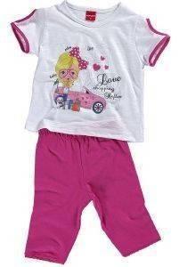 """ΒΡΕΦΙΚΟ ΣΕΤ REFLEX """"LOVE SHOPPING"""" 74725 ΛΕΥΚΟ/ΦΟΥΞΙΑ (116ΕΚ.)-(5ΕΤΩΝ) βρεφικά   παιδικά κοριτσι φορμεσ κοντο μανικι"""