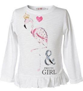 ΜΠΛΟΥΖΑ ΜΑΚΡΥΜΑΝΙΚΗ ENERGIERS ΛΕΥΚΟ (98ΕΚ.)-(2-3ΕΤΩΝ) βρεφικά   παιδικά κοριτσι μπλουζεσ μακρυμανικεσ