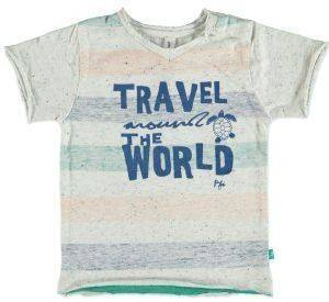ΜΠΛΟΥΖΑ ΜΕ ΚΟΝΤΟ ΜΑΝΙΚΙ BABYFACE 7633 CREAM MELEE (86ΕΚ.)-(12-18 ΜΗΝΩΝ) βρεφικά   παιδικά αγορι μπλουζεσ t shirts