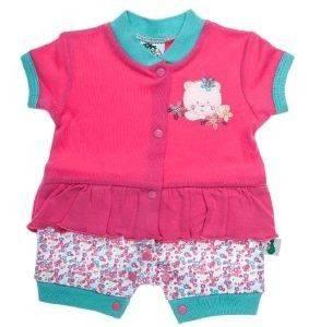 ΦΟΥΦΟΥΛΑ ΜΠΛΟΥΖΑΚΙ ΚΟΝΤΟΜΑΝΙΚΟ F.S. BABY SUMMER BEAR 11285 ΡΟΖ (56ΕΚ.)-(1-3 ΜΗΝΩ βρεφικά   παιδικά κοριτσι μπλουζεσ φουφουλεσ