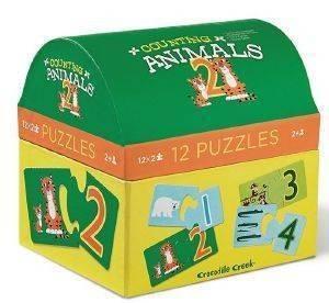 ΠΑΖΛ CROCODILE CREEK COUNTING ANIMALS ΖΩΑΚΙΑ ΚΑΙ ΑΡΙΘΜΟΙ 2 ΚΟΜΜΑΤΙΩΝ βρεφικά   παιδικά παιχνιδια 24 36 μηνων puzzles