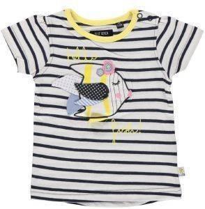 ΜΠΛΟΥΖΑ ΚΟΝΤΟΜΑΝΙΚΗ BLUE SEVEN HELLO FISH ΡΙΓΕ ΜΠΛΕ-ΚΙΤΡΙΝΟ (86ΕΚ.)-(12-18 ΜΗΝΩΝ βρεφικά   παιδικά κοριτσι μπλουζεσ t shirts