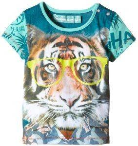 ΜΠΛΟΥΖΑ ΚΟΝΤΟΜΑΝΙΚΗ DESIGUAL NAVARRO ΠΡΑΣΙΝΟ (86ΕΚ.)-(18-24ΜΗΝΩΝ) βρεφικά   παιδικά αγορι μπλουζεσ t shirts