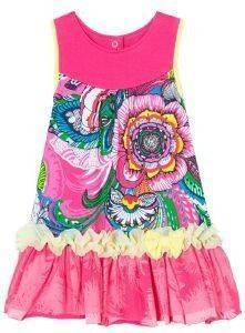 ΦΟΡΕΜΑ DESIGUAL VEST SILVA 3022/ΦΟΥΞΙΑ-ΡΟΖ (86ΕΚ.)-(18-24ΜΗΝΩΝ) βρεφικά   παιδικά κοριτσι φουστεσ φορεματακια φορεματακια