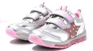 ΠΑΠΟΥΤΣΙ LUMBERJACK SHINE CO002 ΑΣΗΜΙ/ΡΟΖ (EU:27) βρεφικά   παιδικά κοριτσι υποδηση sneakers