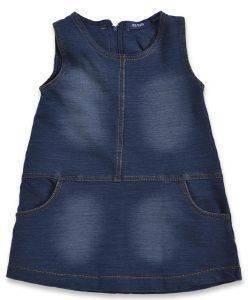 ΦΟΡΕΜΑ ΑΜΑΝΙΚΟ BLUE SEVEN 963000-570 ΜΠΛΕ ΤΖΗΝ (68ΕΚ.)-(6-9ΜΗΝΩΝ) βρεφικά   παιδικά κοριτσι φορεματακια denim
