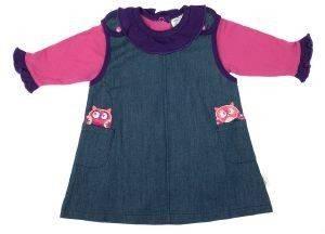ΦΟΡΕΜΑ F.S. BABY 11706 ΜΠΛΕ ΤΖΗΝ/ΦΟΥΞΙΑ (86ΕΚ.)-(15-18 ΜΗΝΩΝ) βρεφικά   παιδικά κοριτσι φουστεσ φορεματακια φορεματακια
