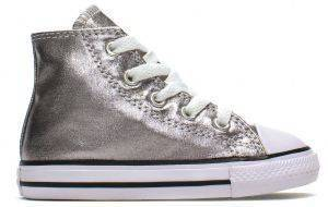 ΜΠΟΤΑΚΙ CONVERSE ALL STAR CHUCK TAYLOR HI 753177C ΑΣΗΜΙ