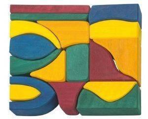 ΣΕΤ ΚΑΤΑΣΚΕΥΗΣ NIC PLAY BLOCKS SMALL 17 ΚΟΜΜΑΤΙΩΝ ΠΟΛΥΧΡΩΜΟ [523288] βρεφικά   παιδικά παιχνιδια 24 36 μηνων ξυλινα οικολογικα παιχνιδια