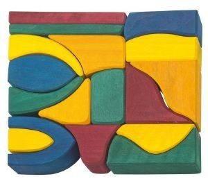 ΣΕΤ ΚΑΤΑΣΚΕΥΗΣ NIC PLAY BLOCKS BIG 17 ΚΟΜΜΑΤΙΩΝ ΠΟΛΥΧΡΩΜΟ [523287] βρεφικά   παιδικά παιχνιδια 24 36 μηνων ξυλινα οικολογικα παιχνιδια