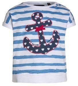 T-SHIRT BLUE SEVEN 901026 ΛΕΥΚΟ/ΜΠΛΕ ΡΙΓΕ (74ΕΚ.)-(9-12ΜΗΝΩΝ) βρεφικά   παιδικά κοριτσι μπλουζεσ t shirts