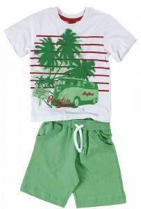 ΣΕΤ ΦΟΡΜΑΣ ΜΠΕΜΠΕ REFLEX PARADISE DREAM 73563 ΛΕΥΚΟ/ΠΡΑΣΙΝΟ (86ΕΚ.)-(12-18 ΜΗΝΩΝ βρεφικά   παιδικά αγορι φορμεσ κοντο μανικι