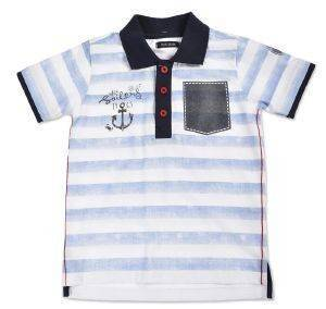 T-SHIRT POLO BLUE SEVEN SAILORS 816006 ΜΠΛΕ ΡΙΓΕ