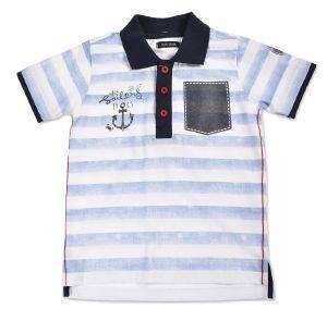 T-SHIRT POLO BLUE SEVEN SAILORS 816006 ΜΠΛΕ ΡΙΓΕ (98ΕΚ.)-(2-3ΕΤΩΝ) βρεφικά   παιδικά αγορι μπλουζεσ polo t shirts