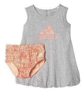ΣΕΤ ΦΟΡΕΜΑΤΑΚΙ ADIDAS PERFORMANCE SUMMER SET ΓΚΡΙ (80 CM) βρεφικά   παιδικά κοριτσι φορεματακια φορεματακια