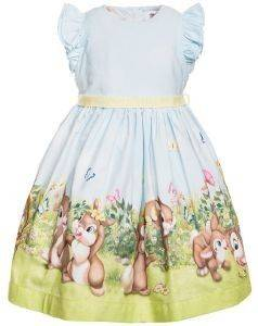 ΦΟΡΕΜΑ MONNALISA ABITO ST.COUNTRY 319923-9636 ΣΙΕΛ (89ΕΚ.)-(18 ΜΗΝΩΝ) βρεφικά   παιδικά κοριτσι φουστεσ φορεματακια φορεματακια