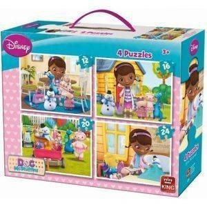 PUZZLE KING 4 ΣΕ 1 DISNEY DOC MC STUFFINS 12-16-20-24 ΚΟΜΜΑΤΙΑ