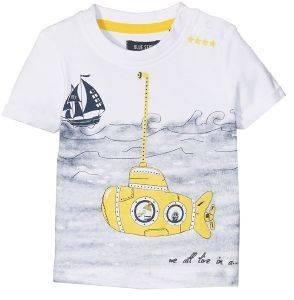T-SHIRT BLUE SEVEN CRUE 928024 ΛΕΥΚΟ (86ΕΚ.)-(18-24ΜΗΝΩΝ) βρεφικά   παιδικά αγορι μπλουζεσ t shirts