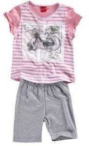 ΣΕΤ ΦΟΡΜΑΣ ΜΠΕΜΠΕ 74552 ΡΟΖ-ΓΚΡΙ (86ΕΚ.)-(12-18 ΜΗΝΩΝ) βρεφικά   παιδικά κοριτσι φορμεσ κοντο μανικι