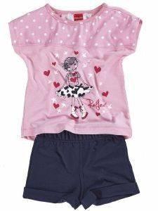 ΣΕΤ ΦΟΡΜΑΣ REFLEX LOVELY GIRL 74569 ΜΠΛΕ-ΡΟΖ (86ΕΚ.)-(12-18 ΜΗΝΩΝ) βρεφικά   παιδικά κοριτσι φορμεσ κοντο μανικι