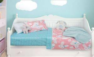 ΣΕΤ ΣΕΝΤΟΝΙΑ ΚΟΥΝΙΑΣ DAS HOME DREAM LINE SATIN 110Χ150 ΡΟΖ/ΜΕΝΤΑ 6322 βρεφικά   παιδικά λευκα ειδη δωματιο σεντονια