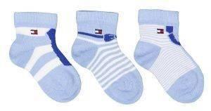 ΣΕΤ ΒΡΕΦΙΚΕΣ ΚΑΛΤΣΕΣ TOMMY HILFIGER TH BABY DRESSED GIFTBOX BABY BLUE-ΜΠΛΕ 3ΤΜΧ  βρεφικά   παιδικά αγορι καλτσεσ καλτσεσ