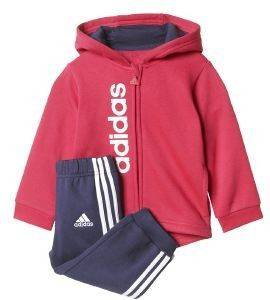 ΦΟΡΜΑ ADIDAS PERFORMANCE FLEECE HOODIE AND JOGGER SET ΡΟΖ/ΜΠΛΕ