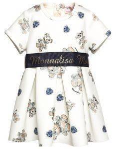 ΦΟΡΕΜΑ MONNALISA ABITO ST. ORSETTI 310929-0597 ΚΡΕΜ/ΜΠΛΕ (89ΕΚ.)-(18 ΜΗΝΩΝ) βρεφικά   παιδικά κοριτσι φουστεσ φορεματακια φορεματακια
