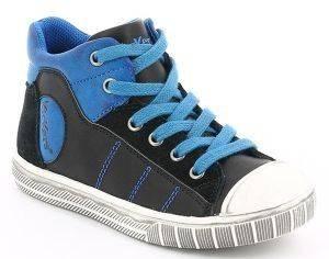 ΜΠΟΤΑΚΙ KICKERS BICHOCOSS ΜΑΥΡΟ/ΜΠΛΕ (EU:28) βρεφικά   παιδικά αγορι υποδηση sneakers μποτακι