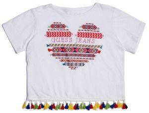 T-SHIRT GUESS KIDS J82I24 K6T30 HEART LOGO ΛΕΥΚΟ