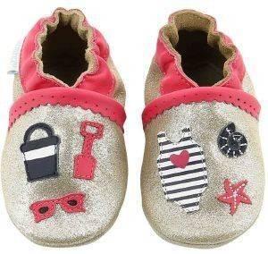ΠΑΝΤΟΦΛΑΚΙΑ ROBEEZ BEACH SUMMER 607780 ΜΠΡΟΝΖΕ (EU:17/18) βρεφικά   παιδικά κοριτσι υποδηση παντοφλακια παντοφλακια