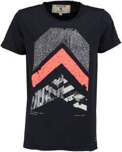 T-SHIRT GARCIA JEANS M83406-292 DARK MOON-ΜΠΛΕ ΣΚΟΥΡΟ