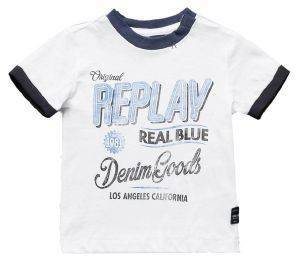 T-SHIRT REPLAY PB7527.052.20994-001 ΛΕΥΚΟ